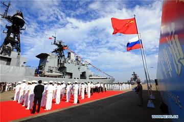 ادامه رزمایش دریایی مشترک چین و روسیه در دریای ژاپن