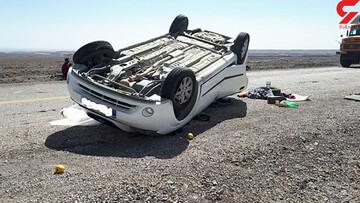 حادثه دلخراش در خراسان رضوی / خودروی عروس و داماد واژگون شد