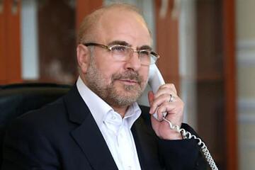 گفتگوی تلفنی قالیباف با رییس دومای دولتی روسیه