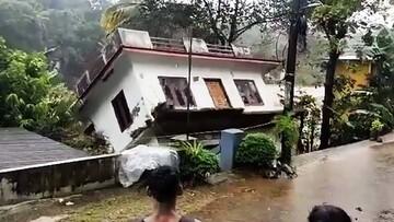 لحظه واژگونی و تخریب کامل منزل به خاطر سیل شدید / فیلم