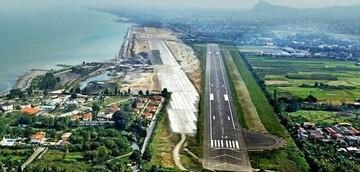 لحظه فرود هواپیما در زیباترین فرودگاه کشور / فیلم