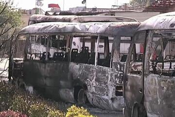 مرگ ۱۳ نظامی سوری به دلیل انفجار اتوبوس در دمشق / فیلم