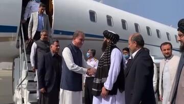 استقبال سرپرست وزارت خارجه دولت طالبان از وزیر خارجه پاکستان / فیلم