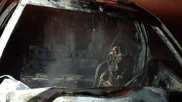 ویدیو دلخراش از زنده زنده سوختن مرد جوان درون خودرو پژو!