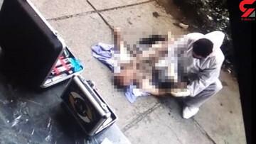 خودکشی وحشتناک مرد تهرانی پس از قتل همسرش در خیابان ستارخان | لحظه پرش قاتل از بالای برج ۱۹ طبقه / فیلم