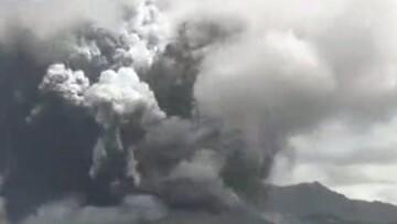 تصاویر ترسناک از فوران آتشفشان کوه آسو در ژاپن / فیلم