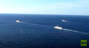 کشتیهای چین و روسیه در اقیانوس آرام گشتزنی کردند