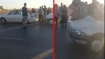 تصادف هولناک در آزاد راه قزوین - کرج / فیلم