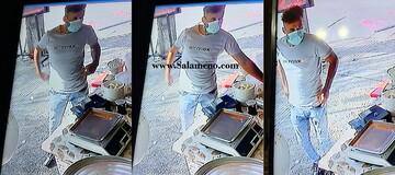 لحظه سرقت موبایل مغازهدار در لنگرود / فیلم