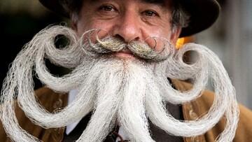 تصاویری از عجیب ترین ریش و سیبیل های جهان