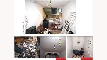 قتل زن صیغهای در مشهد جنجالی شد   انفجار خانه توسط قاتل پس از خفهکردن زن در تشت آب / عکس