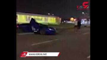 اقدام عجیب راننده لامبورگینی پس از تصادف / فیلم