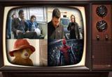 جواد عزتی و دواین جانسون در قاب تلویزیون