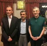 دیدار نوروزی  احمدی نژاد با دو یار زندانی!