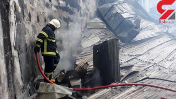 پاساژی در تهران آتش گرفت