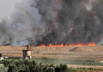 بالنهای انفجاری بر سر شهرکهای صهیونیست آوار  شد