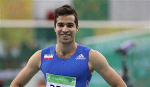 حسن تفتیان در مسابقات دوومیدانی پاریس دوم شد
