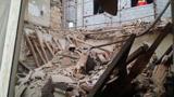 ریزش یک ساختمان در تهران
