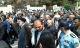 حضور علی لاریجانی  و  ابراهیم رئیسی  در جشن پیروزی انقلاب + تصاویر