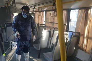 عملیات ضدعفونی سازی اتوبوسهای تهران شبانه روزی شد