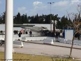 یک موتورسوار مقابل سفارت آمریکا خود را منفجر کرد