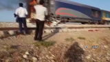 برخورد قطار با پژو  در محور جنوب کشور